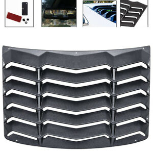 Matte Black Rear Window Louver Shade Cover Hood Vent For Chevy Camaro 2010 2015
