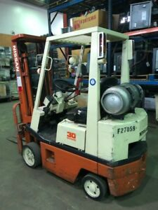 1993 Nissan Propane Forklift 2 174 Hours 2 475 Lbs Capacity