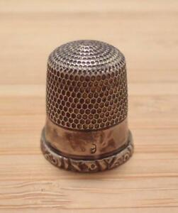 Vintage Sterling Silver 9 Thimble 2 8 Grams 8 C1639