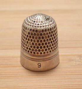 Vintage Sterling Silver 9 Thimble 4 8 Grams 8 C1642