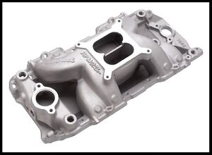 Edelbrock 7501 Rpm Air Gap Intake Manifold For Sbc Chevy 7501