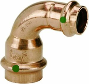 Viega 77325 Propress Zero Lead Copper Reducing 90 degree Elbow With 3 4 inch
