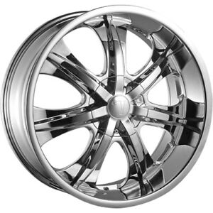 28x10 Chrome Wheel Velocity Vw725 6x5 5 13