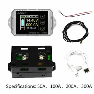 Dc120v Wireless Ammeter Voltmeter Car Battery Capacity Meter Coulometer 50a 300a