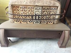 Antique Vintage Hearth Glo Gas Space Heater Fireplace Grates Victorian Art Deco