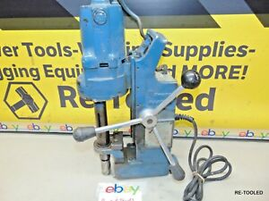 Magnetic Drill Press Hmd914 Hougen With Rotabroach Annular Cutter Electric Drill