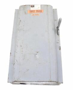 Cutler hammer No 4162h 3 Phase 220v 60 Amp 3 Pole Enclosed Switch