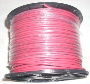 12 Gauge Awg Red Rouge Stranded Electrical Copper Wire 500 Roll 11 Lb 11 8 Oz