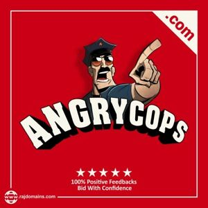 Angrycops com 2 Words Brandable Aged Domain Name Suitable With All Categories