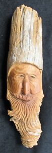 Vintage Wood Carving Old Man Of The Forest Nr American Artisan 13 5 Folk Art