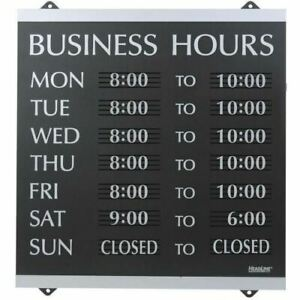 U s Stamp Sign Century Business Hours Sign 4247