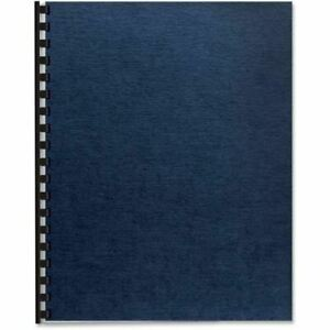 Fellowes Linen Presentation Covers Oversize Letter Navy 200 Pack 52113