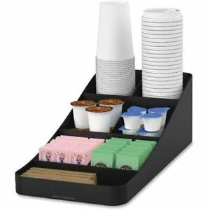 Mind Reader Ems Mind Trove 7 condiment Coffee Organizer Comp7blk