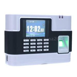 2 8 Tcp ip Attendance Biometric Fingerprint Password Machine Time Clocks Reader