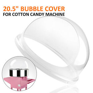 New Cotton Candy Machine Pink Floss Maker Party 20 5 Bubble Shield Cover Clear
