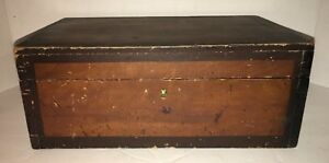 Antique Document Box Old Dry Finish Dovetailed Early 1800 S Rare Interior