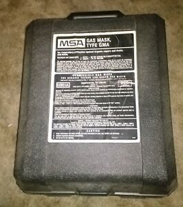 Msa Industrial Gas Mask Case And 2 Canisters