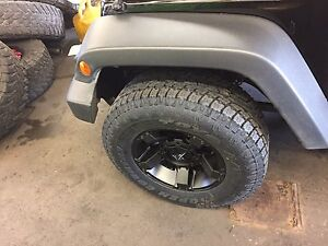 17 Xd Rockstar 3 Black Wheels Jeep Wrangler Jk 33 Toyo At2 Tires Package
