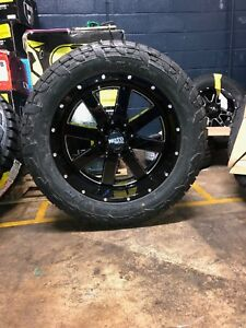 22x10 Moto Metal Mo962 Wheel And Tire Package 35 Fuel At 5x5 Jeep Wrangler Jk