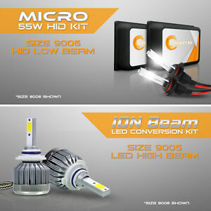 9006 55w Hid Low Headlight Xenon Conversion Kit 9005 6000k Led White High Beam