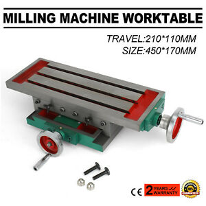 450 170mm Cross Milling Machine Working Table Precision Fixture Diy Slide Table