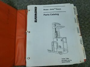 Raymond Model Easi Reach Forklift Lift Truck Parts Catalog Manual S n 00001 up