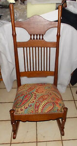 Quartersawn Oak Sewing Rocker Nursing Rocking Chair R161