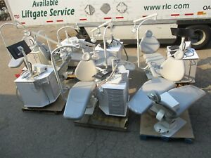 Lot Of 8 Sds Dental Patient Exam Chairs 6 Ortho Delivery Cart Ssytems