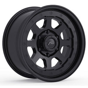 4 new 15 Inch Pacer 166sb Nighthawk 15x8 6x5 5 19mm Satin Black Wheels Rims