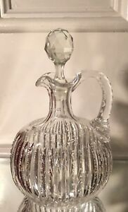 Rare Antique American Brilliant Cut Glass Decanter