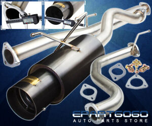 For 94 01 Acura Integra Dc2 4 Gunmetal Catback Exhaust System Kit 2 5 Piping