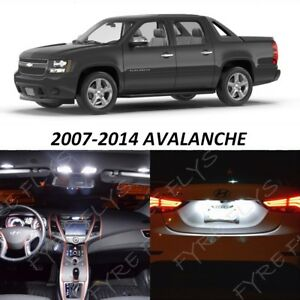 16x White Led Interior Lights Package Kit For 2007 2014 Chevrolet Avalanche Ca1w