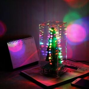 Led Rgb Colorful Christmas Tree Mp3 Music Tree Diy Kit With Shell For Gift