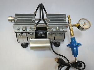 Regulated Twin Piston Oilless Vacuum Pump 4 5cfm 1 2 Hp Cow goat Milker Pulsator