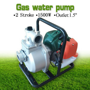 1 5 2 Stroke Portable Petrol High Flow Transfer Gas Water Pump Irrigation 8m