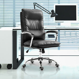 High Back Executive Home Office Chair Computer Task Seat Lumbar Support Black