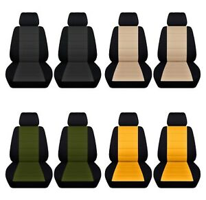 Car Sedan Seat Covers Fits 2013 2017 Ford Fusion Front Seat Black And Color Abf