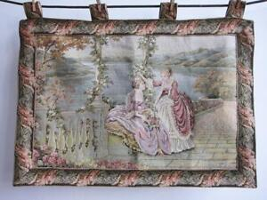 Beautiful French Verdure Style Tapestry 33 X 22 Wall Hanging
