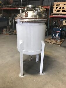 12656 001 Used Approximately 50 Gallon T304l Stainless Steel Reactor Body