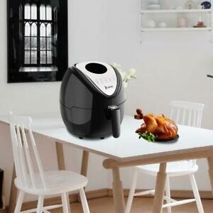 1500w Lcd Electric Air Fryer W 6 Cooking Presets Temperature Control Timer