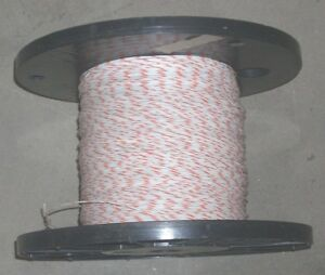 22 Awg Wire Cable Black Roll White Wire W Orange Stripe 9 9 Lbs