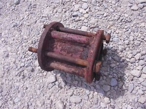 Farmall Tractor Ih Flat Belt Pulley Spacer Bracket W 3 Bolts Hard To Find
