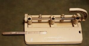 Vintage Foothill 310 3 Hole Punch Beige Ruler Paper Line Up Good Condition