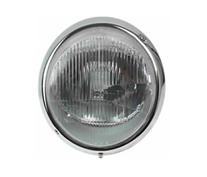 Left Or Right Front H 4 European Head Light With H4 Lens Chrome Ring 911 912 930
