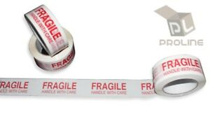 12 Rolls Fragile Handle With Care Carton Box Sealing Packing Tape 2 X 110 Yards