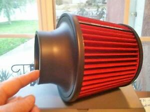 Cone Air Filter 3 Air Intake Washable Pre Oiled Red 9132 Reuse Clean Oil