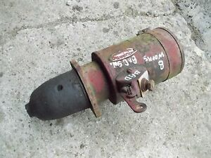Farmall C B Bn A Ih Tractor Original 6v Starter W Good Drive Head Spins