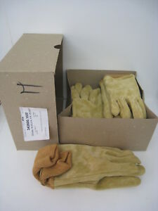 6 Medium Wildland Firefighter Gloves Nubuck Leather Firefighting Fire Protection