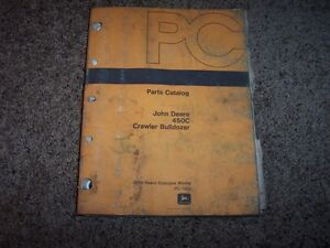 Jd John Deere 450c 450 C Crawler Bulldozer Dozer Parts Catalog Manual Pc1420