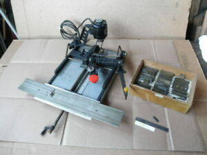New Hermes Engravograph Engraving Machine 2 5 Letters
